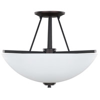 New Yorker 3 Light 15 inch Oil Rubbed Bronze Semi-Flushmount Ceiling Light