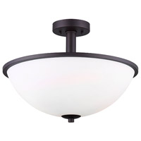 Hampton 3 Light 17 inch Oil Rubbed Bronze Semi-Flushmount Ceiling Light