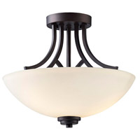 Canarm ISF421A03ORB Somerset 3 Light 15 inch Oil Rubbed Bronze Semi-Flushmount Ceiling Light
