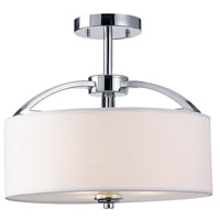 Milano 3 Light 14 inch Chrome Semi-Flushmount Ceiling Light