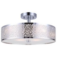 Montreal 3 Light 15 inch Chrome Semi-Flushmount Ceiling Light