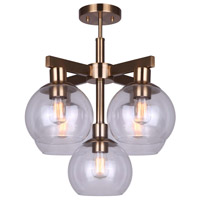Canarm ISF560B05GD Landry 5 Light 20 inch Gold Semi Flush Ceiling Light