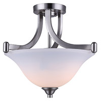 Canarm ISF587A02BN Rue 2 Light 15 inch Brushed Nickel Semi-Flushmount Ceiling Light