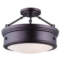 Canarm ISF624A03ORB Boku 3 Light 15 inch Oil Rubbed Bronze Semi-Flushmount Ceiling Light