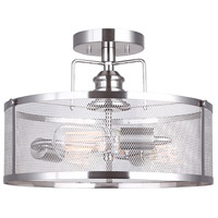 Beckett 3 Light 15 inch Brushed Nickel Semi-Flushmount Ceiling Light