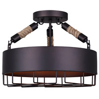 Portsmouth 3 Light 16 inch Oil Rubbed Bronze Semi-Flushmount Ceiling Light