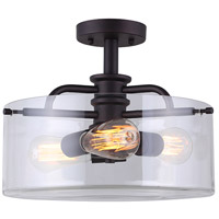 Albany 3 Light 15 inch Oil Rubbed Bronze Semi-Flushmount Ceiling Light