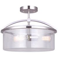 Chelsey 3 Light 15 inch Brushed Nickel Semi-Flush Mount Ceiling Light