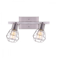 Canarm IT702A02BN Wren 2 Light Brushed Nickel Track Ceiling Light