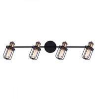 Canarm IT704A04BKG Vox 4 Light Black and Gold Track Ceiling Light