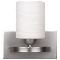 Hampton 1 Light 8 inch Brushed Pewter Vanity Wall Light