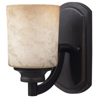 Warren 1 Light 5 inch Rubbed Antique Bronze Vanity Wall Light