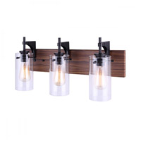 Matte Black Metal Bathroom Vanity Lights