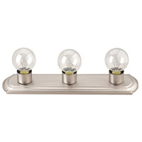 Signature 3 Light 18 inch Brushed Pewter Vanity Wall Light
