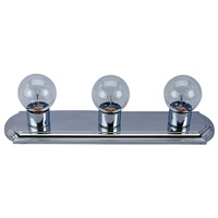 Signature 3 Light 18 inch Chrome Vanity Wall Light