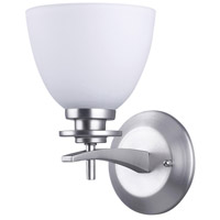 Canarm IWF256A01BPT New Yorker 1 Light 5 inch Brushed Pewter Wall Fixture Wall Light