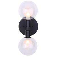 Healey 2 Light 5 inch Black Wall Fixture Wall Light