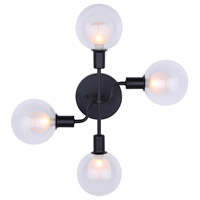 Canarm IWF346B04BK9 Healey 4 Light 18 inch Black Wall Fixture Wall Light