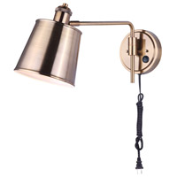 Canarm IWF648B01GD Ryana 1 Light 6 inch Gold Wall Light
