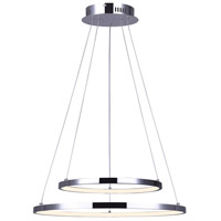 Canarm LCH128A24CH Lexie LED 24 inch Chrome Chandelier Ceiling Light