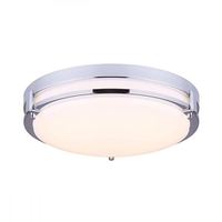 Canarm LFM112A13CH Gilda LED 13 inch Chrome Flush Mount Ceiling Light
