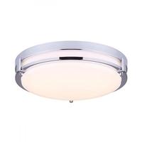 Canarm LFM112A13CH Gilda LED 13 inch Chrome Flush Mount Ceiling Light