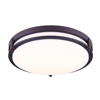 Canarm LFM112A16ORB Gilda LED 16 inch Oil Rubbed Bronze Flush Mount Ceiling Light