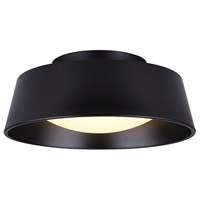 Dion LED 14 inch Black Outdoor Flushmount