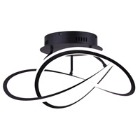 Zola LED 21 inch Matte Black Semi-Flush Mount Ceiling Light