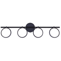 Lexie LED 32 inch Black Wall Fixture Wall Light