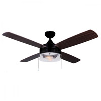 Canarm CF48MIL4ORB Mill 48 inch Oil Rubbed Bronze with Walnut/Medium Maple Blades Indoor Ceiling Fan