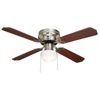 Neptune 42 inch Brushed Nickel with Maple/Cherry Blades Indoor Hugger Ceiling Fan
