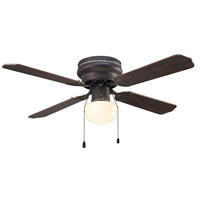 Neptune 42 inch Oil Rubbed Bronze with Maple/Cherry Blades Indoor Hugger Ceiling Fan