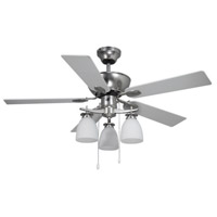 New Yorker 42 inch Brushed Pewter with Walnut/White Blades Indoor Ceiling Fan