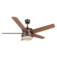 Palisade 52 inch Ebony Bronze with Maple/Cherry Blades Ceiling Fan, Downrod Mount