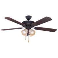 Canarm CF52STJ5ORB St James 52 inch Oil Rubbed Bronze with Walnut/Medium Oak Blades Indoor Ceiling Fan Dual Mount