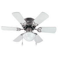 Canarm CF3230651S Twister 30 inch Brushed Pewter with White/Bleached Oak Blades Indoor Hugger Ceiling Fan