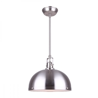 Canarm IPL298B01BN-L Polo 1 Light 12 inch Brushed Nickel Pendant Ceiling Light