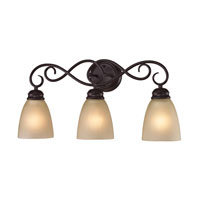 Chatham 3 Light 23 inch Oil Rubbed Bronze Bath Wall Light in Light Amber, Incandescent