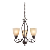 Chatham 3 Light 20 inch Oil Rubbed Bronze Chandelier Ceiling Light in Light Amber, CFL
