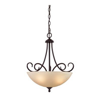 Chatham 3 Light 18 inch Oil Rubbed Bronze Pendant Ceiling Light in Light Amber, CFL