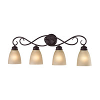 Chatham 4 Light 32 inch Oil Rubbed Bronze Bath Wall Light in Light Amber, Incandescent