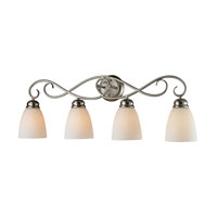 Chatham 4 Light 32 inch Brushed Nickel Bath Wall Light in White, Incandescent