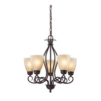 Chatham 5 Light 22 inch Oil Rubbed Bronze Chandelier Ceiling Light in Light Amber, CFL