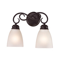 Cornerstone by Elk Chatham 2 Light Bath in Oil Rubbed Bronze with White Glass 1152BB/10