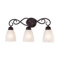 Cornerstone by Elk Chatham 3 Light Bath in Oil Rubbed Bronze with White Glass 1153BB/10