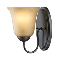 Conway 1 Light 6 inch Oil Rubbed Bronze Wall Sconce Wall Light in Light Amber, Incandescent