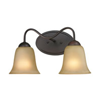 Conway 2 Light 15 inch Oil Rubbed Bronze Bath Wall Light in Light Amber, Incandescent