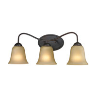 Conway 3 Light 23 inch Oil Rubbed Bronze Bath Wall Light in Light Amber, CFL