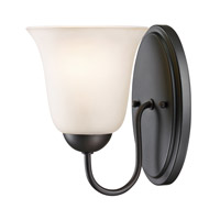 Cornerstone by Elk Conway 1 Light Wall Sconce in Oil Rubbed Bronze with White Glass 1251WS/10